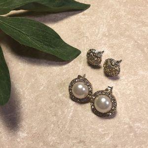 Jewelry - Bundle 2 bling studded earrings
